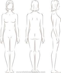 womens body proporton sketch