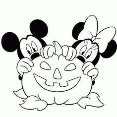 This site has 100s of Halloween coloring pages - print a dozen and staple them into a Halloween colouring book! Great as a favour /goody bag present for Halloween Parties! Mickey and Minnie Mouse.