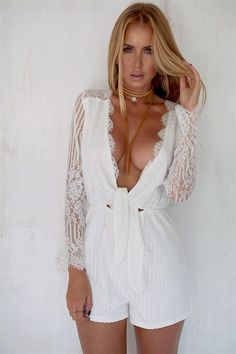 Buy Karli Lace Playsuit Online - Playsuits - Women's Clothing & Fashion - SABO SKIRT