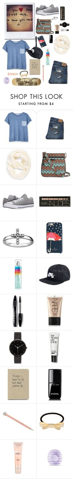 """""""Whithout your permision"""" by mad4sewing ❤ liked on Polyvore featuring MANGO, Abercrombie & Fitch, Echo, Vera Bradley, Converse, Kate Spade, NIKE, Lancôme, NARS Cosmetics and I Love Ugly"""