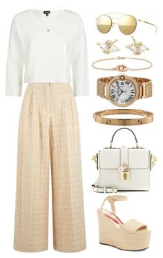 """///"" by lunaashton ❤ liked on Polyvore featuring Dolce&Gabbana, Mykita, Emilia Wickstead, Gucci, EF Collection, Topshop and Cartier"