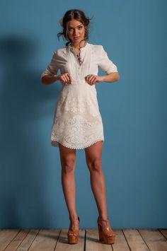 Lace skirt a line skirt off white lace skirt by LeMoutonBleuShop