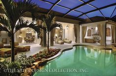 Outdoor drapes on columns....Valdivia - Sater Design Collection Plans