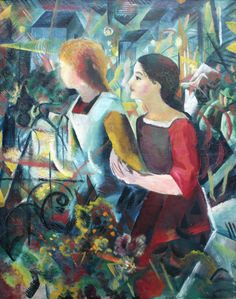 August Macke Poster - Two Girls