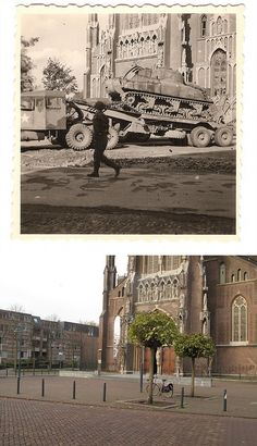 Ghosts of War - Veghel; Tank repair on the Lord's doorstep then and now | Flickr - Photo Sharing!