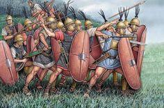 Legionari all'attacco, III-II secolo a.C.