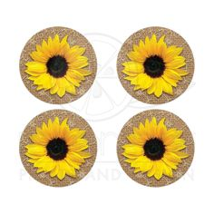 Elegant rustic burlap and lace yellow sunflower wedding stickers or envelope seals