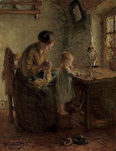 poboh:  Meal time, 1900, Bernardus Johannes Blommers. Dutch (1845 - 1914)