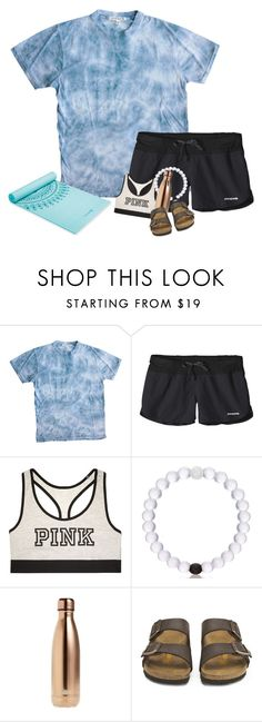 """""""Yoga"""" by hannyjep on Polyvore featuring Sophomore, Patagonia, Victoria's Secret, S'well and Birkenstock"""