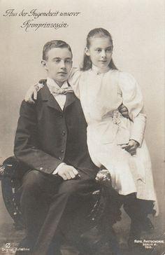 Cécilie Augusta Marie de Mecklembourg-Schwerin (1886-1954) et son frère Frédéric-François (1882-1963), grand-duc de Mecklembourg-Schwerin