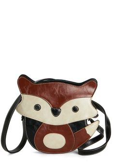 Found Your Fox Bag. Crossbody bags dont get any cuter than this adorable fox-shaped one! #brown #modcloth