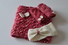 Ensemble nœud au tricot - L. et ses p'tites mains