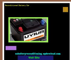 Reconditioned Battery Car 143352 - Recondition Your Old Batteries Back To 100% Of Their Working Condition!