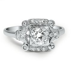 The Maysun Ring from Brilliant Earth, Platinum and Diamond Art Deco ring