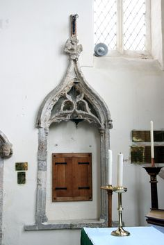 Laxton, Nottinghamshire. 14th century Easter Sepulchre