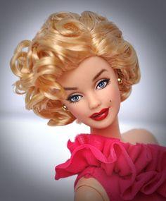 Marilyn Monroe Barbie Doll REPAINT by noeling