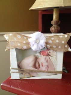 Distressed white burlap bow wood picture by shutthefrontdoor2, $15.00