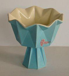 RESERVED1960's Belle Kogan Prismatique Pedestal Bowl by TikiTiger