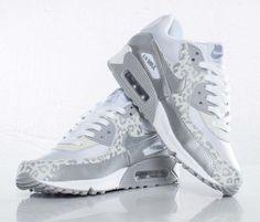 Dam Nike Air Max 90 Leopardmönstrad Vit/Silver