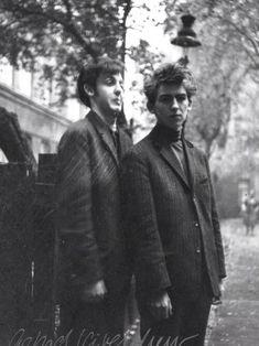 Paul McCartney, 18, and George Harrison, 17, in Hamburg, 1960.