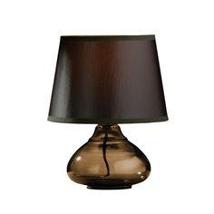 Medan Smoke Amber Glass Table Lamp