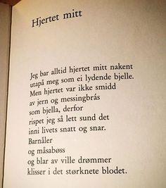 """1,662 likerklikk, 13 kommentarer – @renpoesi på Instagram: """"Av Hans Børli #hansbørli #lyrikk #dikt #poesi #renpoesi regram @ebmtone ❤️"""""""