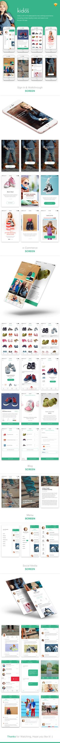 Kidos is iOS UI Kit template for clothing ecommerce. Download here : http://themeforest.net/item/kidos-kids-clothing-ios-ui-kit/15930863?ref=peterdraw