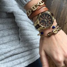Michael Kors heritage tri tortoise gold bracelet Brand new with tags! Adjustable so it's super easy to take on and off. Simple gold look with awesome tortoise detailing. I also have the matching watch and necklace! Absolutely authentic and brand new. Michael Kors Jewelry Bracelets