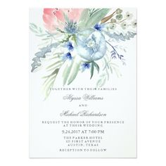Shop Blue and Pink Peony Watercolor Bridal Shower Invitation created by Customize_My_Wedding. Personalize it with photos & text or purchase as is! Bridal Shower Cards, Bridal Shower Invitations, Bridal Showers, Modern Invitations, Brunch Invitations, Invitation Envelopes, Zazzle Invitations, Invitation Cards, Pink Peonies