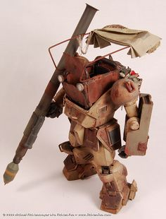 "Bandai 1:20 scale model ScopeDog of ""Armored Trooper Votoms."" Titled: Desert-Use ScopeDog by Michael Fichtenmayer aka FichtenFoo. #mech #scifi"