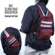 Newest Pictures Sling Bag Backpack DIY Printable Pattern Tips I love Jeans ! Next Jeans Sew Along I'm going to Backpack Tutorial, Diy Backpack, Backpack Pattern, Sewing Projects For Beginners, Sewing Tutorials, Diy Fashion Videos, Love Jeans, Handmade Bags, Diy Clothes