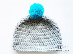 Super Bulky Crochet Hat Pattern (free & easy) | Chunky Crochet Hat Basic Crochet Beanie Pattern, Chunky Crochet Hat, Beanie Knitting Patterns Free, Beanie Pattern Free, Crochet Round, Crochet Blanket Patterns, Easy Crochet, Crochet Hats, Free Pattern