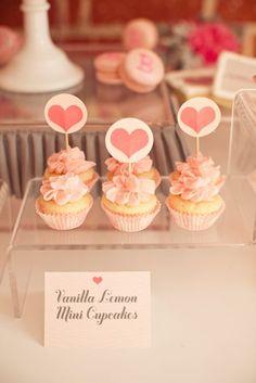 Pretty heart cupcakes.