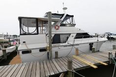 Used 1986 Carver 4207 Aft Cabin Motoryacht, 21220 Middle River - Boat Trader Middle River, Heat Exchanger, Yacht For Sale, Power Boats, Teak, The Unit, Cabin, Cabins, Motor Boats