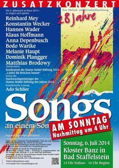 Sonntägliches Zusatzkonzert bei den 'Songs an einem Sommerabend 2014' in Kloster Banz!