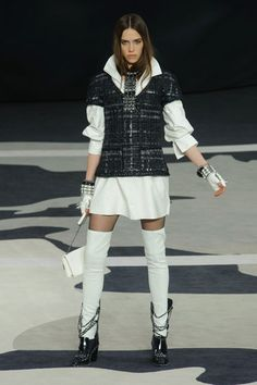Chanel Fall 2013 Teddy Girl/Boy Look, Taking current fashion and trending it out to look hip, only needs a D.A. hairstyle to fit a modern Teddy Girl