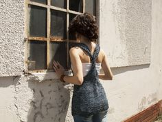 contemporary knitwear: handmade tank top in 100% viscose € 52