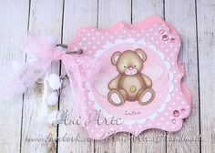 Baby Girl Shower Book Baby Girl Guest Book Pink Polka by AniArts
