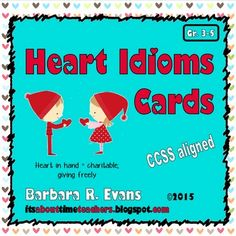 In your heart of hearts, you know that your students need more work on idioms.  These task cards can be used in multiple ways to help your students understand these figures of speech.  $