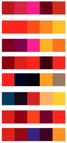 8 kleurpaletten
