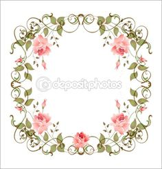 Round Floral Frame Vector Pack | Vector Illustrations & Photoshop ...