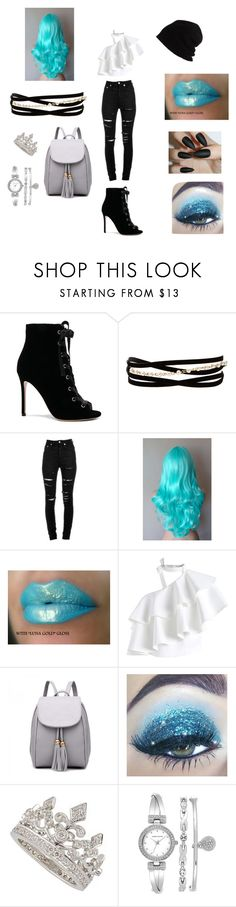 """Just A Cute Outfit"" by mychristapie on Polyvore featuring Gianvito Rossi, Kenneth Jay Lane, Yves Saint Laurent, Chicwish, Garrard, Anne Klein and SCHA"