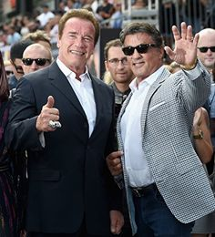 Arnold Schwarzenegger and Sylvester Stallone at an event for Terminator Genisys (2015)