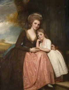 Mrs Bracebridge and Her Daughter Mary circa 1781-84, by George Romney