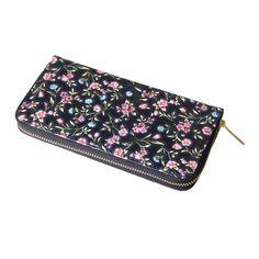 NA-0151 Xiamen unique Volk unique  flower  long zipper handmade  wallet