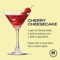 Cherry Cheesecake Martini ~