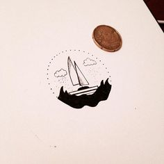 Tiny little boat ⚓️ #graphicbyd #minimalist #minimalisttattoodesign #tattoodesign #littleboat #boat #illustration #sketch #art #vsco #ink #waves