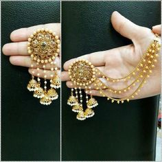Indian Bollywood DESIGNER Gold Plated Jhumka Earrings Ethnic Women Jewelry for sale online Jewelry Design Earrings, Women's Earrings, Jewelry Sets, Women Jewelry, Jewelry Holder, Jewelry Making, Silver Earrings, Jewelry Stand, Silver Necklaces
