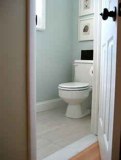 Sherwin Williams sea salt - Florim Stratos Avorio 12x24 porcelain tile | Involving Home Diy Bathroom Inspiration, Home Decor Inspiration, Bathroom Ideas, Bath Ideas, Upstairs Bathrooms, Downstairs Bathroom, Small Bathroom, Br House, House Bath