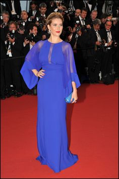 Vahina Giocante wears ELIE SAAB Pre-Fall 2013 to the Opening Ceremony of The 66th Annual Cannes Film Festival.